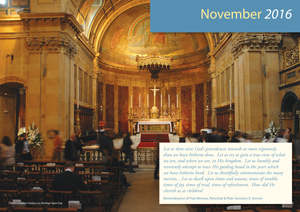 Birmingham Oratory from the November page of the Official 2016 Newman calendar