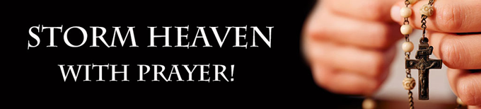Storm Heaven with Prayer Banner